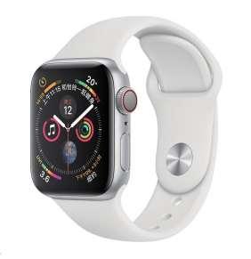 COTEetCI silikonový sportovní náramek pro Apple watch 38 / 40 mm bílý