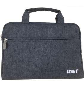 """iGET iB10 - univerzální pouzdro na zip s poutky do 10.1"""" pro tablety - šedočerná"""