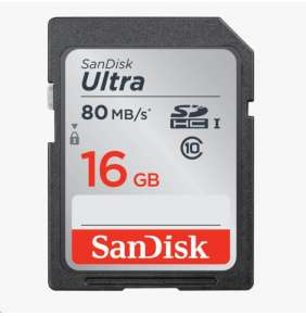 SanDisk SDHC karta 16GB Ultra (80MB/s Class 10 UHS-I)