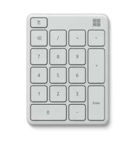 Microsoft Numerická klávesnice Wireless Number Pad, Glacier