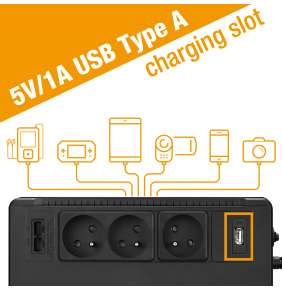 FSP/Fortron UPS ECO 800 FR, 800 VA / 480 W, USB, RJ45, line interactive
