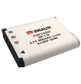 Braun akumulátor CASIO NP-110, 800mAh