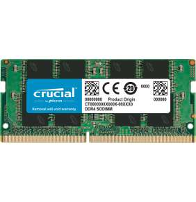 16GB DDR4 2666 MT/s (PC4-21300) CL19 SR x8 Crucial Unbuffered SODIMM 260pin