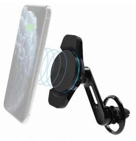 Scosche MagicMount Charge3 Vent Freeflow Qi držiak s bezdrôtovým nabíjaním do mriežky ventilácie 10W