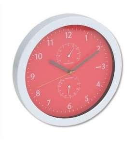 PLATINET nástěnné hodiny Summer, červené, měření vlhkosti
