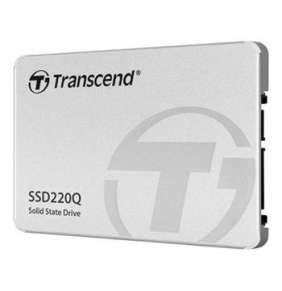 TRANSCEND SSD220Q 1TB SSD disk 2.5'' SATA III 6Gb/s, QLC, Aluminium casing, 550MB/s R, 500MB/s W, stříbrný