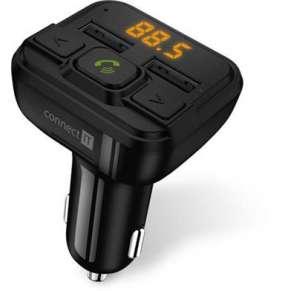 CONNECT IT InCarz Bluetooth transmitter, 2xUSB+Micro SD Card, černý