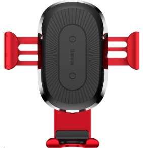 Držák na mobil Baseus Wireless Charger Gravity Phone holder - červený
