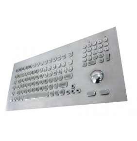KB021 – Průmyslová nerezová klávesnice s trackballem do panelu, CZ, USB, IP65