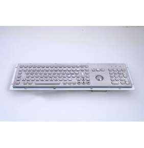 KB005K – Průmyslová nerezová klávesnice s trackballem do zástavby, CZ, USB, IP65