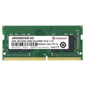 SODIMM DDR4 8GB 2666MHz TRANSCEND 1Rx8 1Gx8 CL19 1.2V, bulk