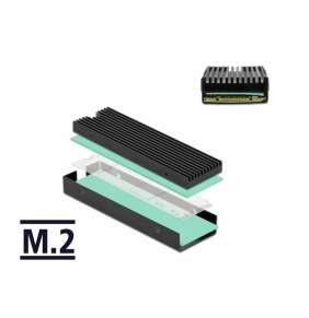 Delock Tepelná jímka pro M.2 SSD 2280, černá