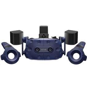 HTC VIVE PRO Full kit Brýle pro virtuální realitu/ 2x externí snímače pohybu / 2x ovládač / link box / kompletní kabeláž