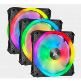 CORSAIR ventilátor QL Series QL120 RGB LED, 3x 120mm, 26dBA, Lighting Node CORE