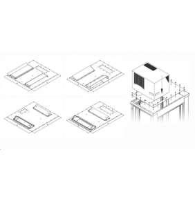 TRITON montážní redukce ke klimatizaci X1 a X2 do hloubky rozvaděče 600 x 1000 mm, šedá