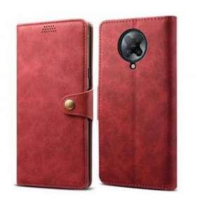 Lenuo Leather flipové pouzdro pro Poco X3, červená