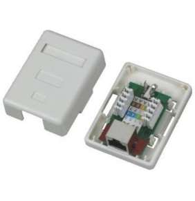DATACOM Datová zásuvka STP CAT5E 1xRJ45 na omítku bílá