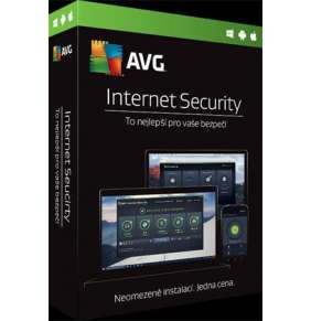 AVG Internet Security (Multi-Device, up to 10 connections) na 3 roky