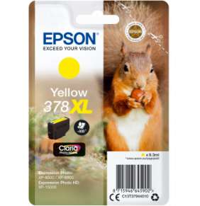 Epson Singlepack Yellow 378 XL Claria Photo HD Ink