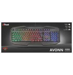 TRUST klávesnice GXT 830-RW Avonn Gaming Keyboard CZ/SK
