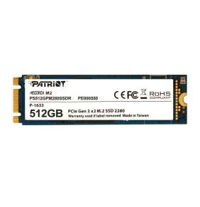 Patriot SSD 512GB Scorch NVMe PCIe Gen3x2 M.2 2280 3D TLC (č/z: 1700/950MB/s)
