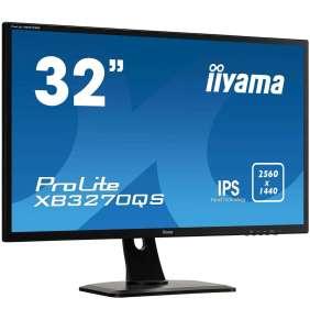 """32"""" LCD iiyama XB3270QS-B1 - IPS,4ms,300cd/m2,16:9,2560x1440,DVI,HDMI,DP,repro,výškov.nastav."""