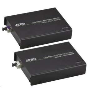 ATEN HDMI Extender po optickém vlákně do 20km, 3D, IR,RS-232