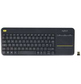 Logitech® K400 Plus Wireless Touch Keyboard Black, UK layout
