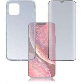 4smarts 360° Protection set (tvrzené sklo Full Frame černá + zadní kryt) pro Apple iPhone 12 mini