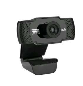 C-TECH webkamera CAM-11FHD/ Full HD 1080p/ MJPEG/YUY2/ mikrofon/ držák/ Plug and Play/ USB 2.0/ kabel 1,5 m/ černá