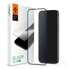 Spigen ochranné sklo GLAS.tR FC HD pre iPhone 12 mini - Black Frame