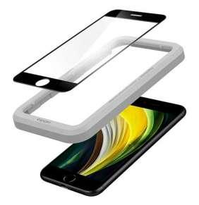 Spigen ochranné sklo GLAS.tR AlignMaster pre iPhone 7/8/SE 2020 - Black Frame