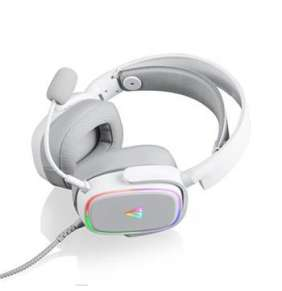 Modecom VOLCANO MC-899 PROMETHEUS, herní sluchátka s mikrofonem, 2,2m kabel, USB, LED podsvícení, bílá