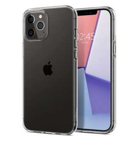 "Ochranný kryt Spigen Liquid Crystal pro Apple iPhone 12/iPhone 12 Pro (6,1"") transparentní"