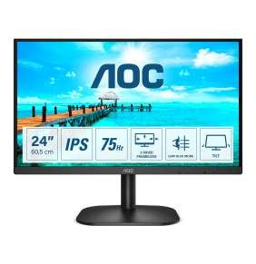 "AOC 24"" LED 24B2XDA / IPS / 1920x1080@75Hz / 16:9 / 4ms / 1x HDMI / 1x DVI / 1x VGA / repro"