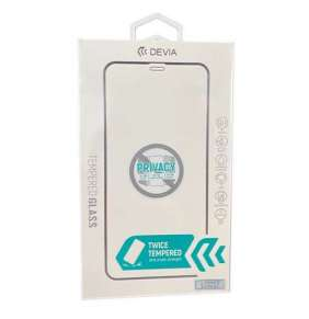 Devia ochranné sklo Real Series Privacy pre iPhone 12/12 Pro - Black Frame