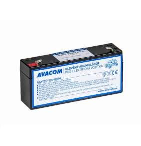 AVACOM Náhradní baterie (olověný akumulátor) 6V 3,4Ah do vozítka Peg Pérego F1