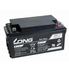 Long 12V 65Ah olověný akumulátor M6 LongLife (WPL65-12AN)