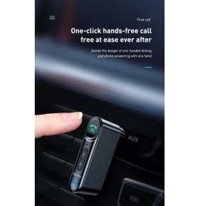 Baseus Qiyin AUX Car Bluetooth Receiver Black