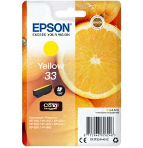 EPSON ink bar Singlepack Yellow 33 Claria Premium Ink