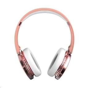 Celly BT stereo sluchátka s mikrofonem, růžová