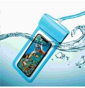 """Celly vodotěsné pouzdro pro telefony do 6,5"""", modrá"""