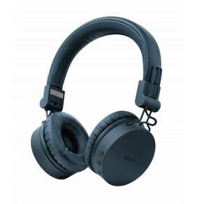 TRUST bezdrátová sluchátka Tones Bluetooth Wireless Headphones, blue/modrá