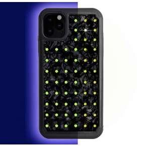 Swarovski kryt Extravaganza Nacre Mini pre iPhone 11 Pro Max - Neon Yellow