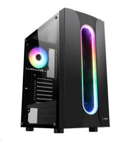 1stCOOL Miditower SAURON ARGB LED fan, skrinka ATX, USB3.0, čierna