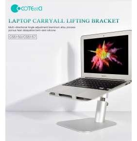 COTEetCI hliníkový flexibilní podstavec pro notebooky (obousměrný) šedý