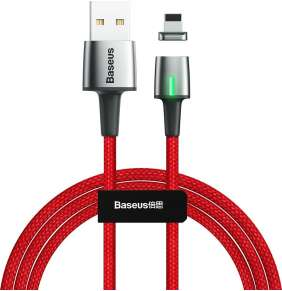 Baseus Zinc Magnetic Cable USB for Lightning 1.5A 2M Red