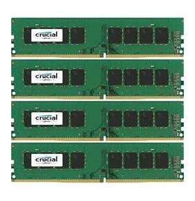 64GB Kit (16GBx4) DDR4 2400 MT/s (PC4-19200) CL17 SR x8 Crucial Unbuffered SODIMM 288pin