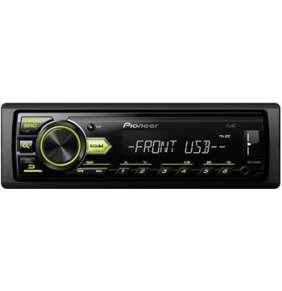 Pioneer MVH-09UBG 1-DIN autorádio bez CD mechaniky sAM/FM tunerem, zelené podsvícení,kompatibilní s Android, přehrává so