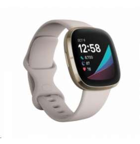 Fitbit Sense - Lunar White/Soft Gold Stainless Steel